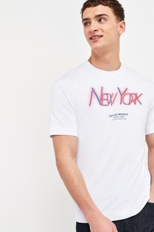 Emporio Armani White New York T-Shirt