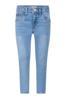 510™ Boys Light Blue Cotton Skinny Jeans