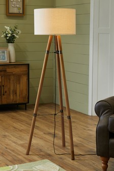Floor lamps tripod led floor lights next official site wooden tripod floor lamp aloadofball Gallery