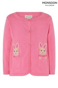 Monsoon Pink Baby Bunny Cardigan
