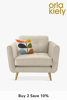 Orla Kiely Ivy Chair with Oak Feet