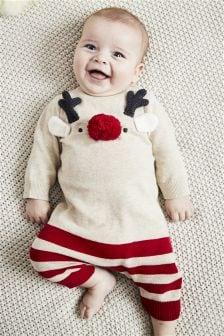 驯鹿针织连衣裤 (0个月-2岁)
