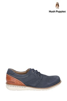 Hush Puppies Blue Chase Casual Lace-Up Shoes