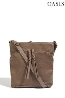 Oasis Brown Cross Body Pocket Bag