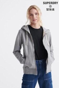 Superdry Organic Cotton Standard Label Zip Hoody