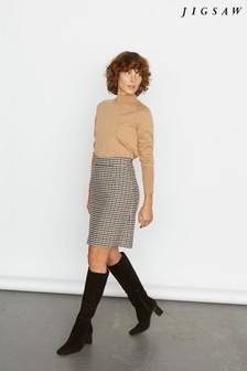 Jigsaw Natural Heritage Check Mini Skirt