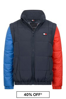 Boys Colour Block Padded Jacket
