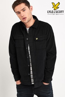 Lyle & Scott Black Cord Overshirt