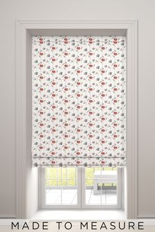 Izzy Red Made To Measure Roman Blind