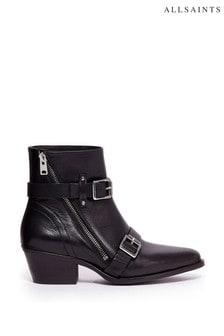 AllSaints Lior Zip Calf Boots