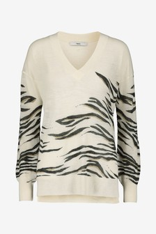 Linen Blend V-Neck Tunic