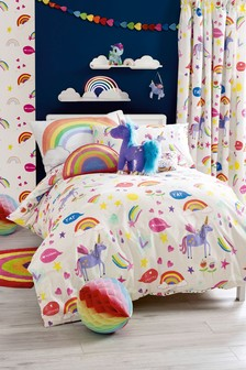 Rainbows And Unicorns Duvet Cover and Pillowcase Set