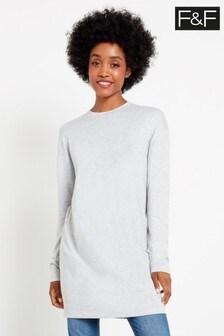 F&F Grey Brushed Tunic