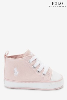 Ralph Lauren Pink Hampton Kids Shoes