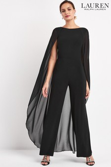 Lauren Ralph Lauren® Black Hollie Caped Jumpsuit