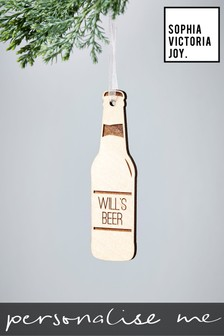 Personalised Beer Bottle Decoration by Sophia Victoria Joy