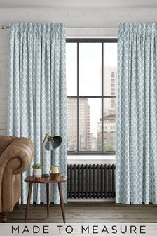 Earle Blue Made To Measure Curtains
