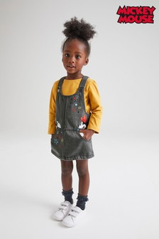 Mickey And Minnie Mouse™ Denim Pinafore (3mths-7yrs)