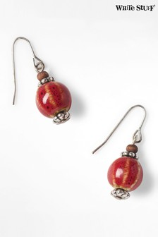 White Stuff Orange Ceramic Bead Earrings