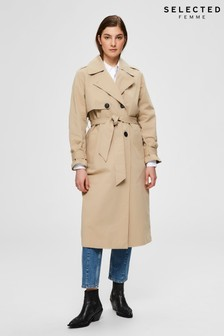 Selected Femme Beige Weekly Trench Coat
