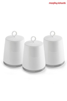 Set of 3 Morphy Richards Dune Canisters
