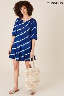 Monsoon Blue Tie-Dye Tunic Dress In Lenzing™ Ecovero™