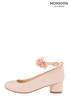 Monsoon Children Pink Millie Corsage Shoes
