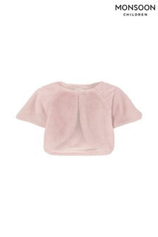 Monsoon Children Pink Florence Faux Fur Cover-Up