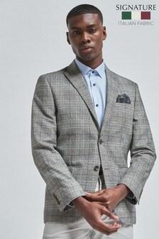Nova Fides Signature Slim Fit Check Blazer