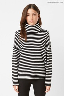 French Connection Black Micro Stripe Jumper