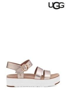 UGG Rose Metallic Leedah Flatform Sandals