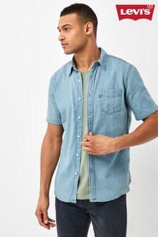 Levi's® Stonewash Short Sleeve Denim Shirt