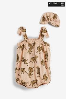 Myleene Klass Baby Tiger Romper and Hat Set
