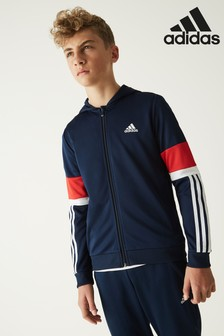 adidas Navy/Red Full Zip Hoody