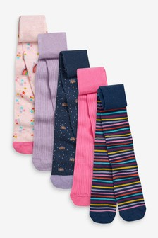 5 Pack Rainbow Stripe Tights