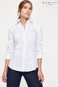 חולצה עם שרוול פפיון של Damsel In A Dress בקרם