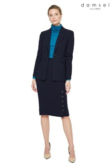 Damsel In A Dress Blue Lydia City Suit Skirt
