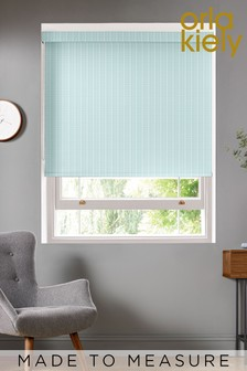 Woven Tiny Stem Teal Green Made To Measure Roller Blind by Orla Kiely