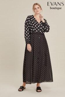 Evans Curve Spot Mix And Match Dress