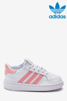 adidas Originals White/Pink Court Novice Infant Trainers