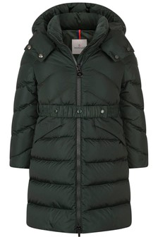 Girls Green Down Padded Agot Coat