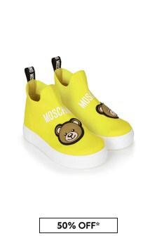 Moschino Kids Yellow Trainers