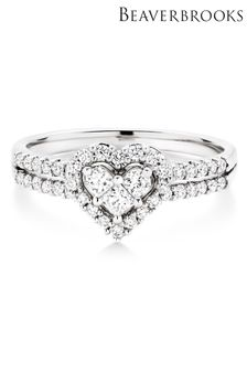 Beaverbrooks 18ct Heart Shaped Diamond Ring