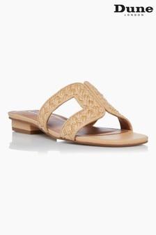 Dune London Neutral Loupe Smart Slider Sandals