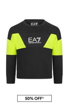 EA7 Emporio Armani Boys Black Cotton Sweater