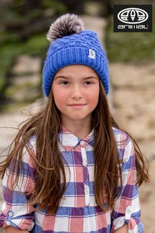 Animal Amparo Blue Monroe May Knitted Beanie Hat