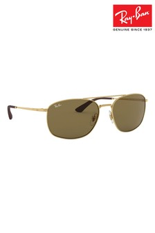 Ray-Ban® Gold ORB3654 Sunglasses