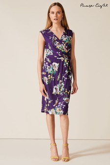 Phase Eight Purple Franchesca Floral Print Dress