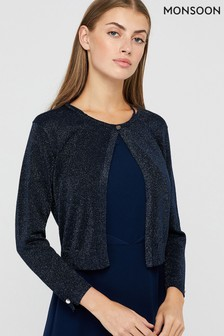 Monsoon Navy Elyse Shrug