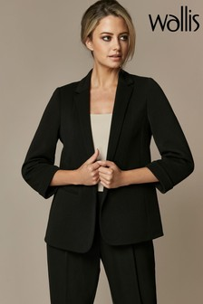 Wallis Black Petite Ribbed Jacket